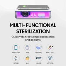 UV Sanitizer Box Phone Wireless Charge Disinfection Sterilizer Cleaner UVC USB-C