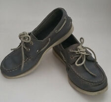 Jcrew Sperry Top Sider Boat Shoe Toddler Boys Gray Leather Size 12 M Preppy Cute