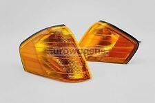Mercedes SL W129 92-01 Orange Front Indicators Repeaters Pair Set Left Right OEM