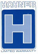CASE CANDY Hohner Blue Instrument Warranty Card
