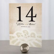 Personalized Vintage Lace Wedding Table Numbers