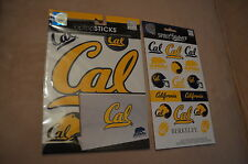 CALIFORNIA GOLDEN BEARS SET OF LAPTOP SPIRIT LOGO STICKERS & SPIRIT STICKERS!!