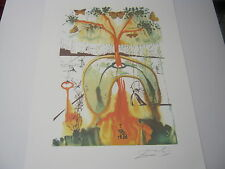 "Salvador  Dali Lithograph "" Mad Tea Party "" Plate-Signed"