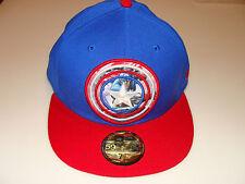 Captain America New Era Cap Hat Fitted 7 1/4 Subaction Dual Logo Marvel Comics