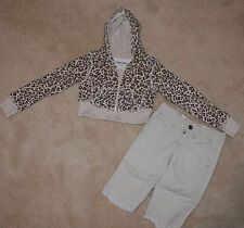 ADORABLE GIRLS SHORTS OUTFIT BY LIMITED TOO SZ 7 & 7 SLIM ANIMAL PRINT SASSY