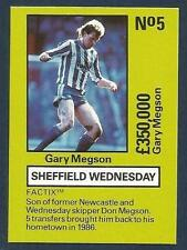 EMLYN HUGHES TEAM TACTIX-1986-REF-#SW-005-SHEFFIELD WEDNESDAY-GARY MEGSON