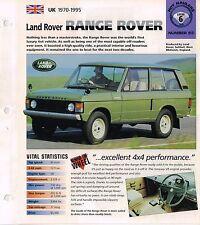 1970 / 1971 / 1972 LAND ROVER RANGE ROVER IMP Brochure