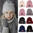 Women Men Braided Beret Baggy Knit Crochet Beanie Hat Ski Cap Winter Warm Cap