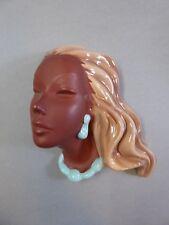 Keramik Wandmaske Frau Wall Mask Cortendorf 3426 Rockabilly 1959