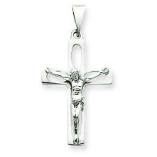14K White Gold Latin Crucifix Charm Pendant MSRP $556