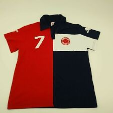 New listing DIRK BIKKEMBERGS SPORTS L Mens Short Sleeve Polo Shirt Jersey Blue/Red/White