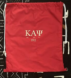 Kappa Alpha Psi Fraternity, Inc. Drawstring Bag Crest Logo Divine 9 1911 NPHC