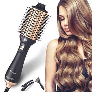 Professional Hair Dryer Blow Dryer Straightener Volumizer Hot Air Comb Brush