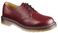 Unisex Dr Martens 1461 3 Eye Shoes - Cherry Red Smooth UK3 EU36