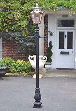 Utilizzati Ex-Display 3.25 M rame e ghisa da giardino Lampione e Lanterna Set
