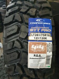COOPER STT PRO 4X4 TYRES 265/75 R16 M/T ONLY 265 75 16 2657516 123/120K EXTREME