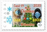 "2020 Canadian Christmas - Kelowna Dogs  ""P"" Value - PANDEMIC Issue"