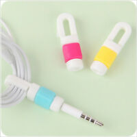 Silicone Clips USB Data Cable Protector Wire Protection Winder for Phone TK