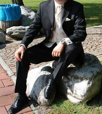 Wunderschöner schwarzer Hochzeits Anzug 5 tlg. v. WILFORST Gr. 50 Neuwertig!