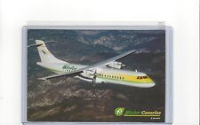 Binter Canarias airlines issued ATR 72 cont/l postcard #1