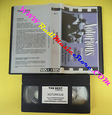 VHS film NOTORIOUS Alfred Hitchcock Cary Grant Rains PROMO SKEMA 1 (F98) no dvd