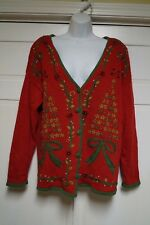 UGLY CHRISTMAS SWEATER WOMENS LARGE EUC