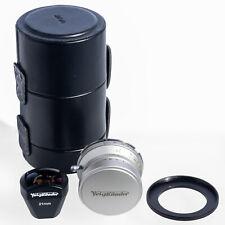 Voigtlander 21mm F/4 MC Color-Skopar Lens + 21mm Viewfinder + M mount Adapter