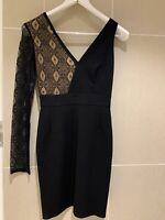 Authentic Versace Versus Asymmetric Lace Dress Size 40 Near New