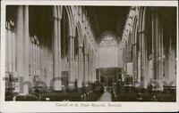 NORWICH Church of St. Peter Mancroft Interior View Postcard NORFOLK Anon