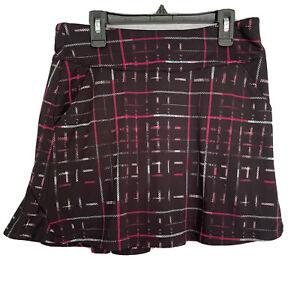 Grand Slam Women's Athletic Skort Size Small Golf Tennis Black Multi Polyester.