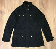 Barbour International womens ladies black quilted jacket size 8, UK12
