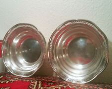 2 sterling silver nut bowl vtg tableware antique lattice candy dish table art