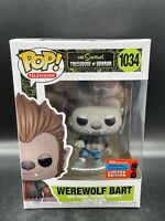 Funko Pop! The Simpsons WereWolf Bart NYCC 2020 GameStop Exclusive w/ Protector