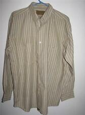 UTOPIA MEN'S LONG SLEEVE BUTTON FRONT SHIRT LARGE