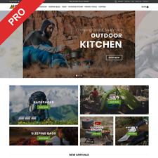 Camping Gear Dropshipping Store Automated Amp Modern Business Website For Sale