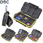 Memory Card Case Holder Storage For SD Micro SD CF TF Cards Water Resistant