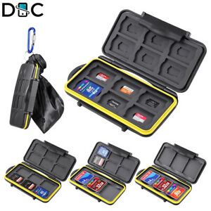 10x Memory Card Holder Case Standard SDHC TF SD Card HOT Adapter//Micro Stor I4C