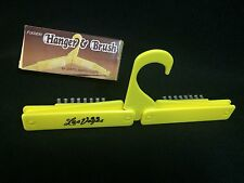 Vintage Made in Hong Kong Novelty Plastic Folding Las Vegas Hanger & Brush W/Box