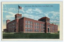 Ottawa Hills High School building, Grand Rapids, Michigan postcard, c. 1910