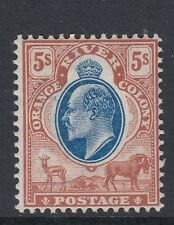 Orange free state stamps -1903-04 - 5s blue and brown-lightly mounted mint-SG147