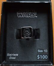 STAR WARS STAINLESS STEEL STORM TROOPER RING-SIZE 10