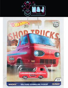 Hot Wheels Shop Trucks Collection '60s Ford Econoline Pickup 5/5 (Aussie Seller)
