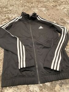 Juniors Adidas Black Jacket Size 12-14