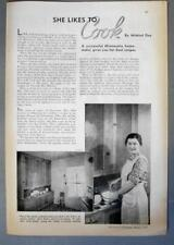 Dated Original 1937 Cook Ad Photo Endorsed Mrs Arvid Ailie of Dassell Minesota