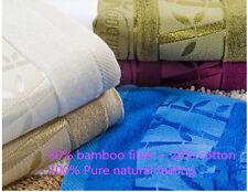 Free Shipping Purple Bamboo Fiber Bath Towel Jacquard Style  Size 70 x140 CM