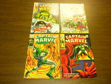 CAPTAIN MARVEL #10,12,19,23 Marvel Comics lot 1969-1972
