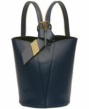 df1d1b190e1 Calvin Klein NWT $228 Blue Backpack Shoulder Bag Karsyn Leather Convertible  Hobo
