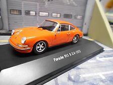PORSCHE 911 S 911S 2.4 Coupe 1972 orange F-Modell Atlas by Spark 1:43