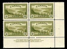 ES-13525 CANADA UNIITRADE 269 GREAT BEAR LAKE NWT PLATE BLOCK #2 MNH $10