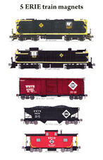 Erie Railroad Freight Train 5 magnets by Andy Fletcher